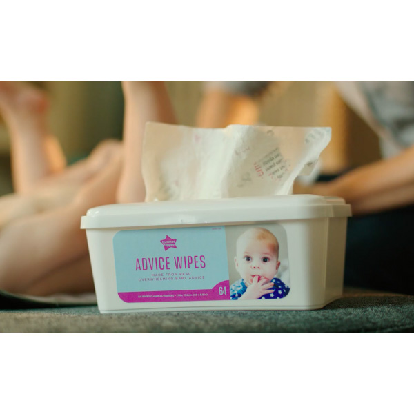 Wipe Your Baby's Bum with Advice Wipes -- Made from Actual Advice Books