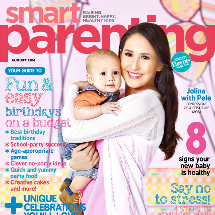 Jolina Magdangal-Escueta and Son Pele are on Smart Parenting's August Cover
