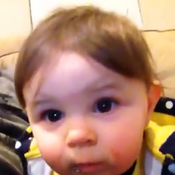 This Made our Day: Baby Amazed at Seeing His Face on the Screen