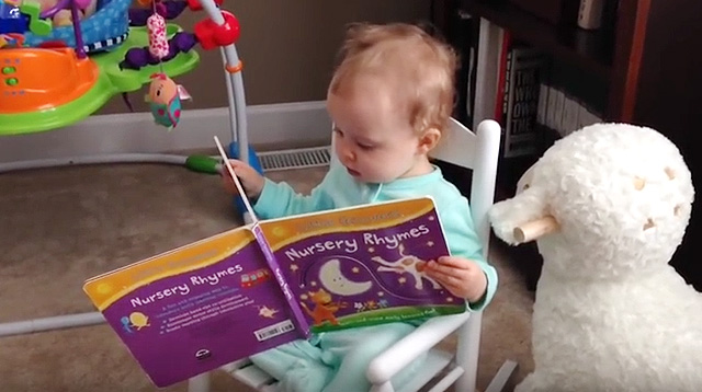 "This Made Our Day: Reading Toddler Tells Noisy Dogs to ""Shh"""