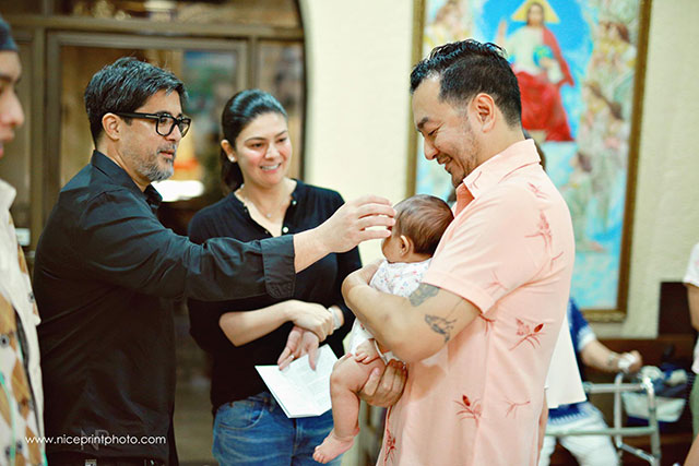 Beauty Gonzalez's daughter's baptism