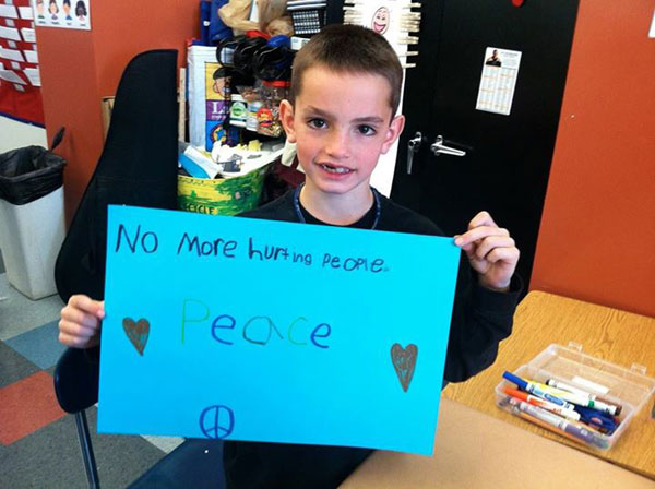 Boston Bombing victim Martin Richards' sign