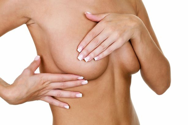 woman breast exam