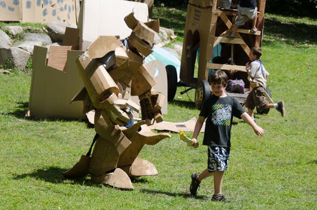 Cardboard camp armor