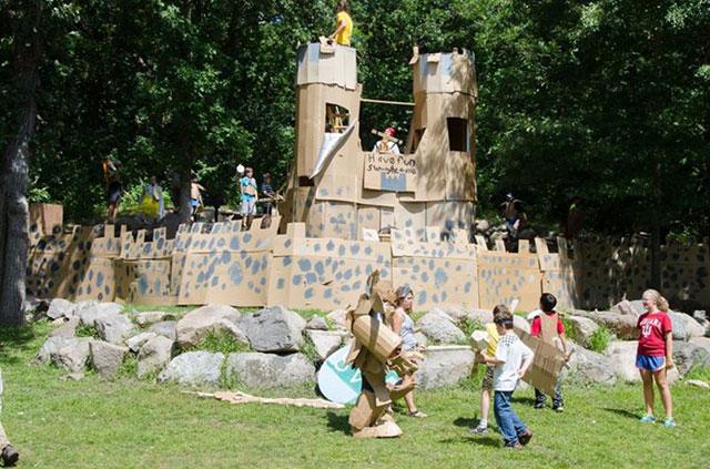 Cardboard camp castle