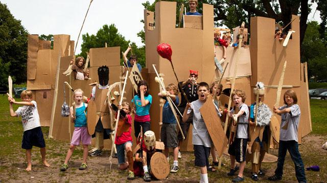 A Cardboard Camp? Yes, Please!