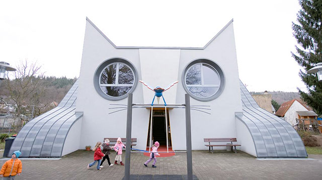A Cat-Shaped Kindergarten? Cool!