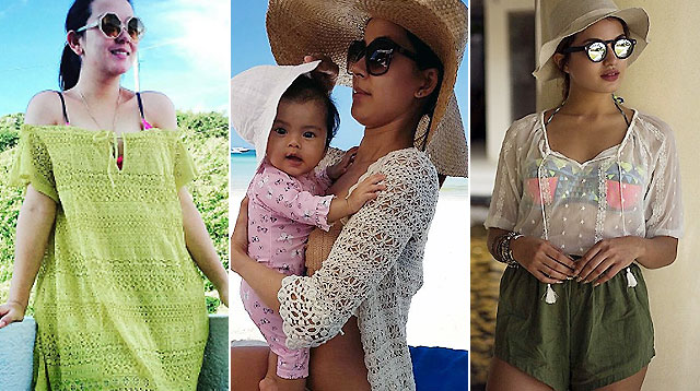 Discover Your Swimsuit Cover-Up Style From These Celeb Moms