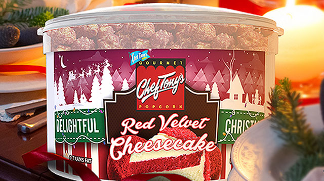 Red Velvet Cheesecake Popcorn Makes a Christmas Comeback