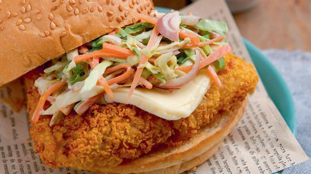 Weekend Recipe: Cornflake-crusted Fish Burgers