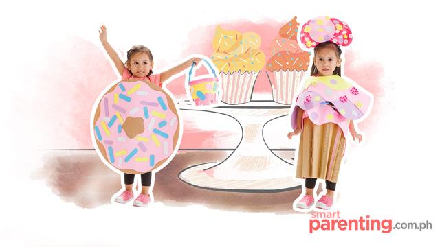 cupcake & doughnut costume