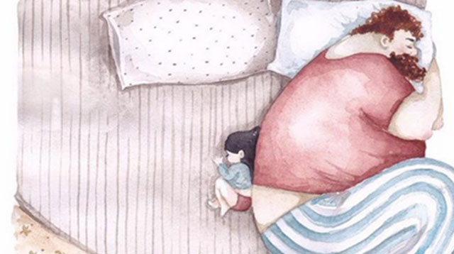 10 Watercolor Paintings That Beautifully Capture a Father's Love