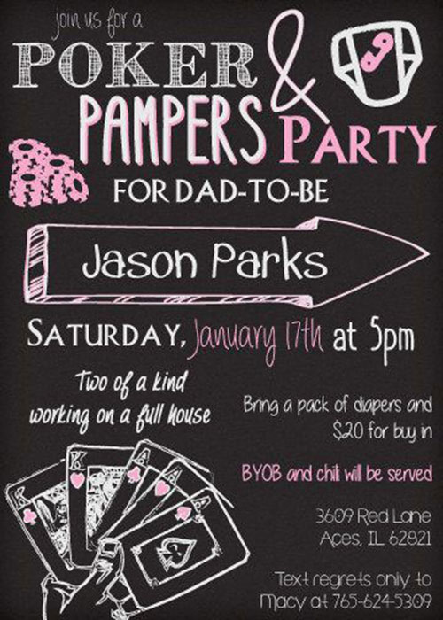 Dad Shower invite 2