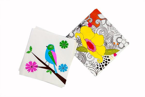 flora and fauna napkins