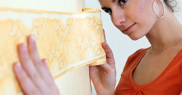 woman decorating