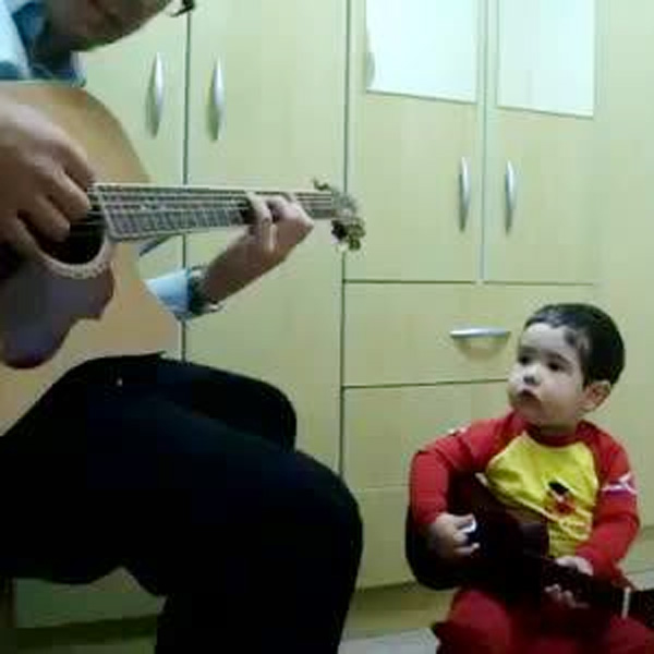 This Made our Day: Toddler Jams with Dad to