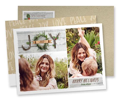 Drew Barrymore Shutterfly Xmas card
