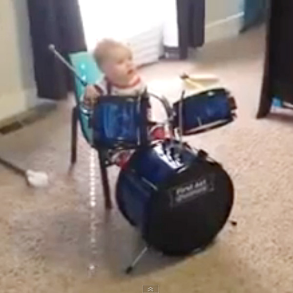 This Made our Day: Little Drummer Baby Rocks Like a Pro