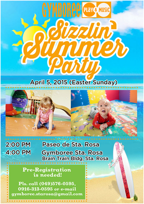 Gymboree's Sizzlin' Summer Party poster