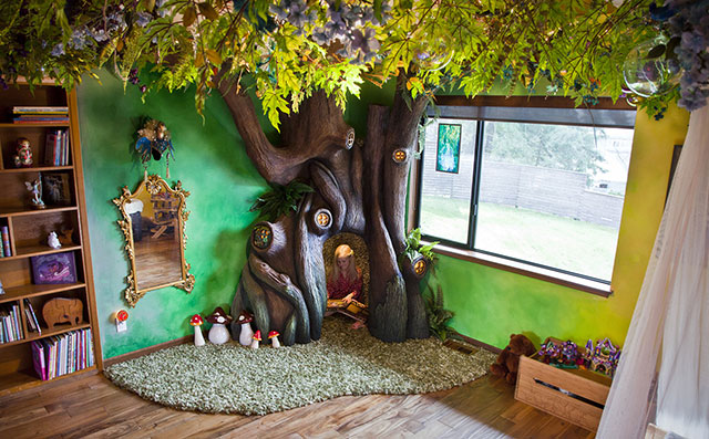 This Dad Built His Daughter A Fairytale Treehouse in Her Own Bedroom