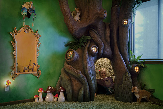 Enchanted Fairytale tree house room 3