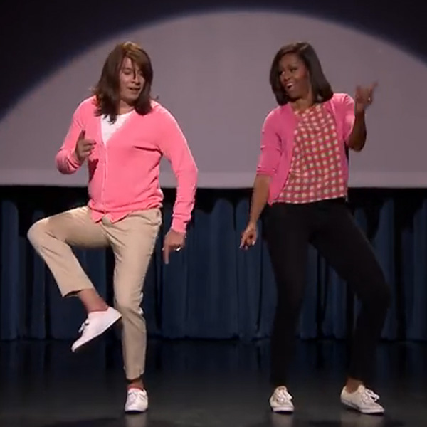 This Made our Day: Jimmy Fallon and First Lady Michelle Obama Trace the Evolution of Mom Dancing
