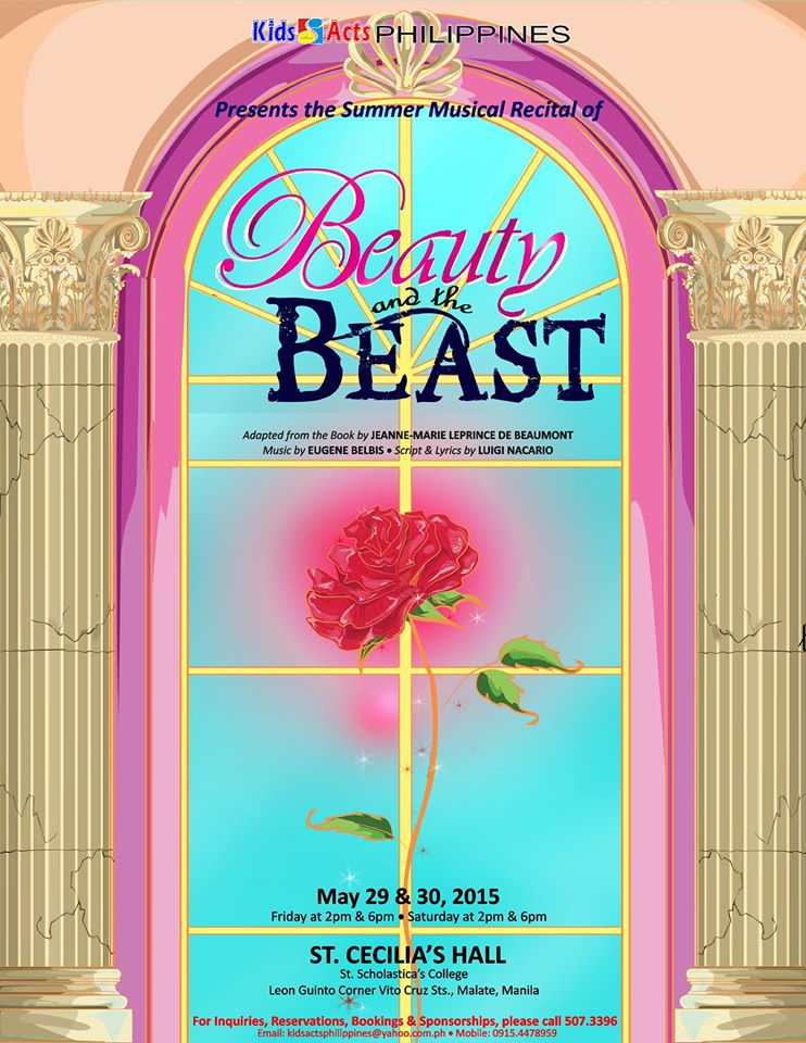 Kids Acts Philipipnes' Beauty and the Beast poster