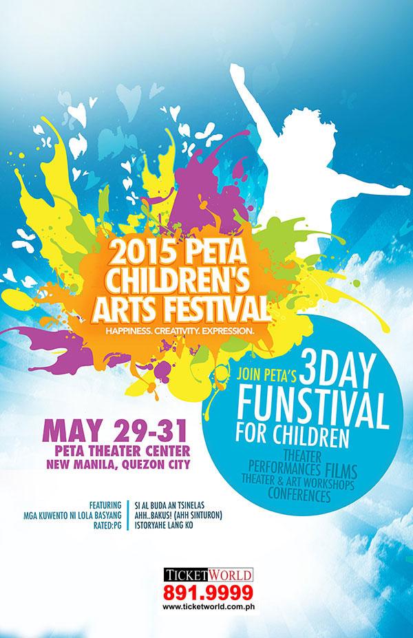 PETA Children's Arts Festival poster