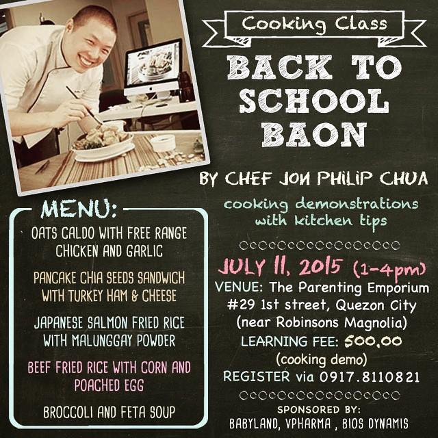 Back to School Baon Cooking Demo