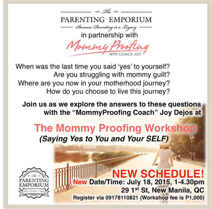 The Mommy Proofing Workshop
