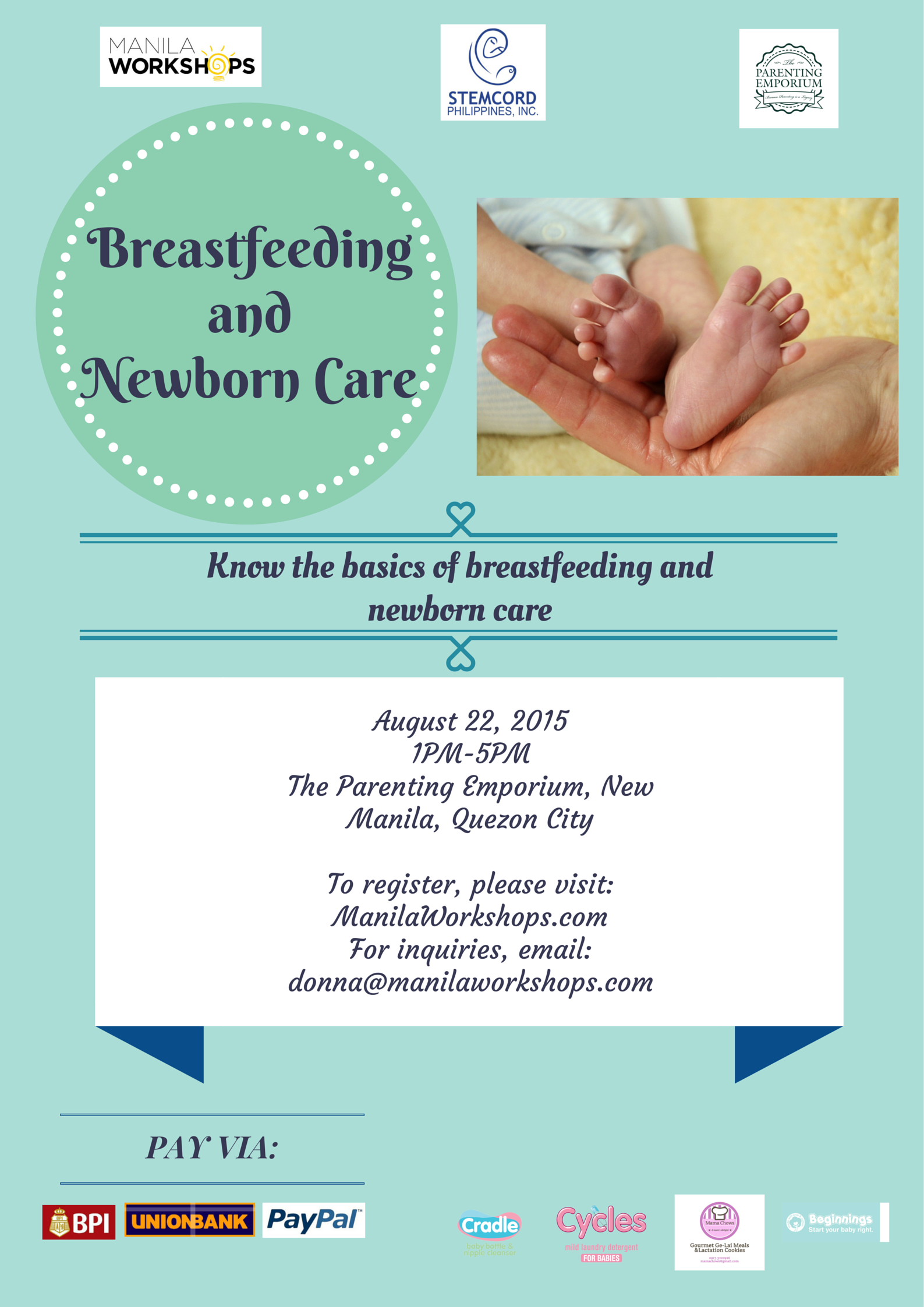 Breastfeeding and Newborn Care workshop