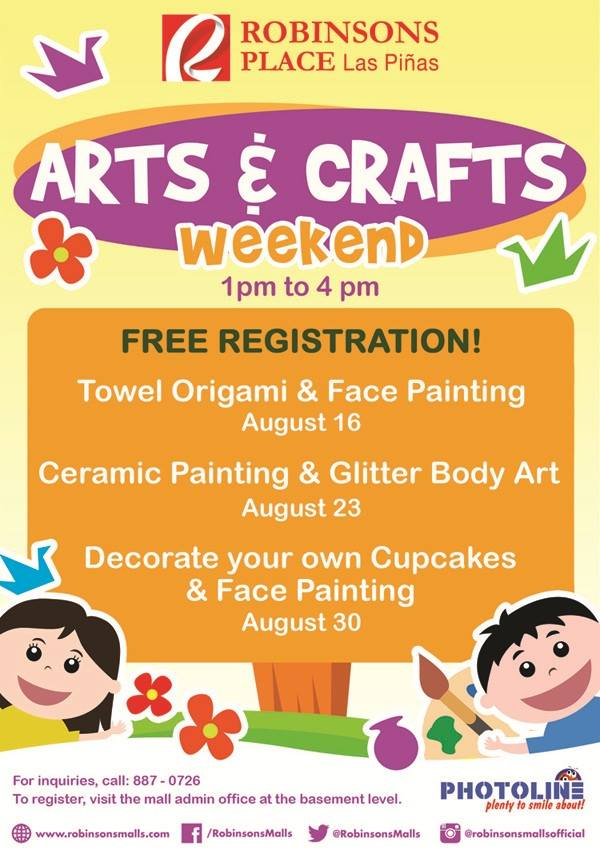 Robinsons Place Las Piñas' Arts & Crafts Weekend