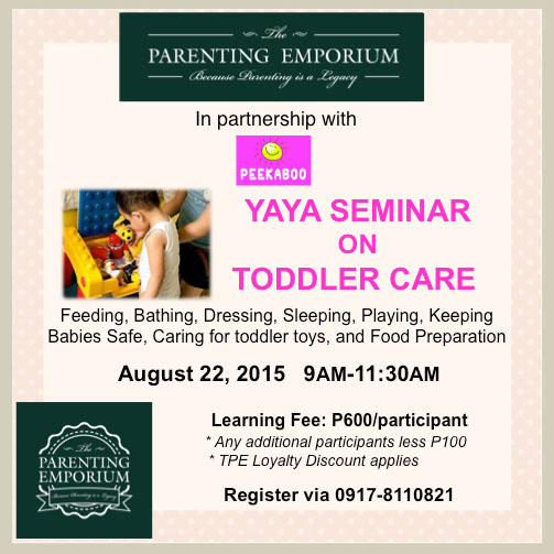 Yaya Seminar on Toddler Care