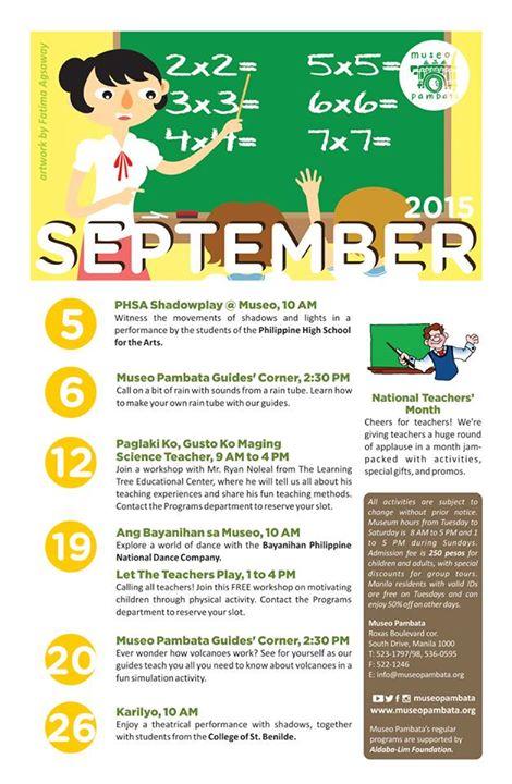 Museo Pambata September schedule