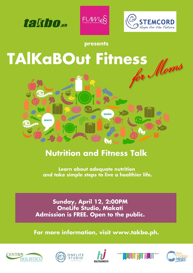 TAlKaBOut Fitness for Moms 2015 poster