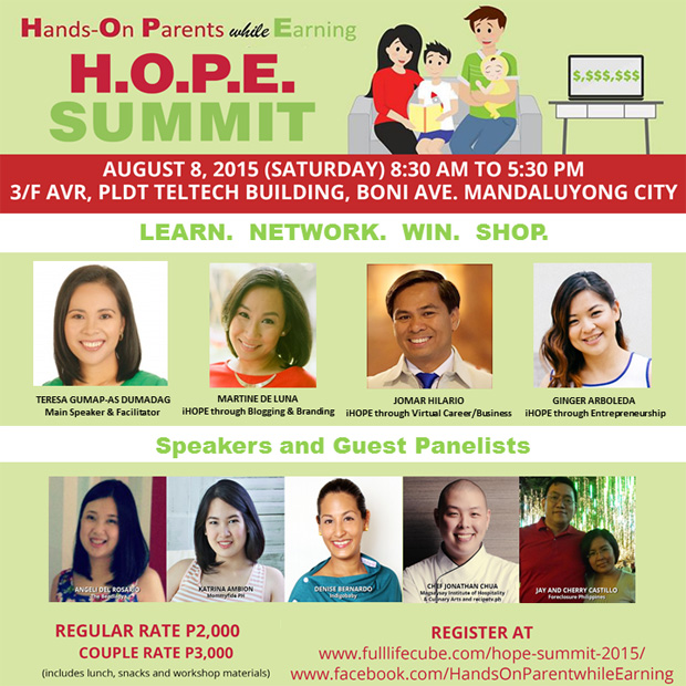 Be A Hands-On Parent While Earning Through the H.O.P.E. Summit on August 8