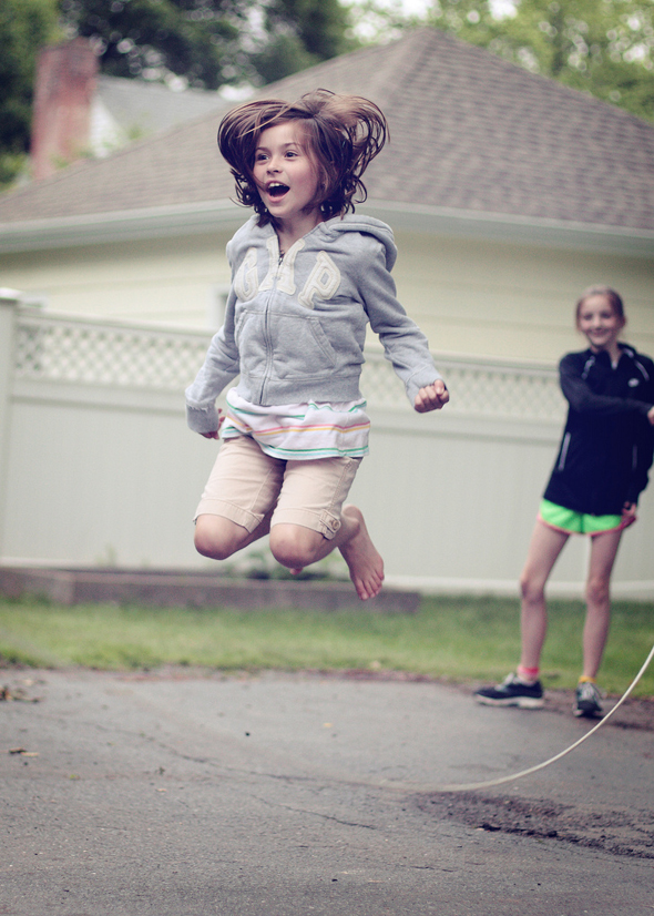 Kid jumping rope
