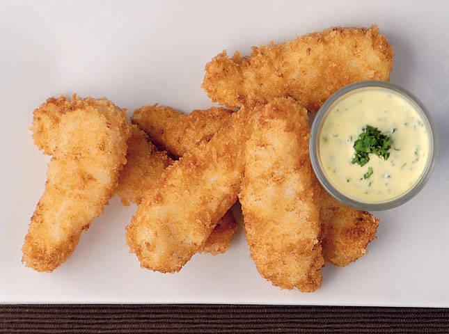 Crusty Fish Fingers with Cilantro-Lemon Mayonnaise