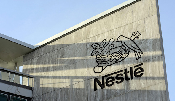 Nestlé logo on a building