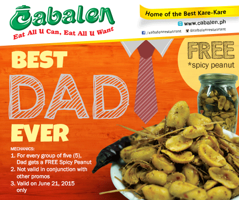 Cabalen's Father's Day deal