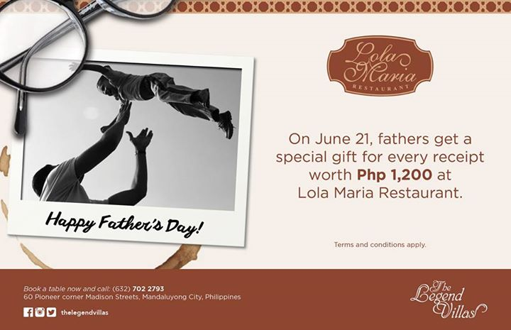 Lola Maria's Father's Day deal