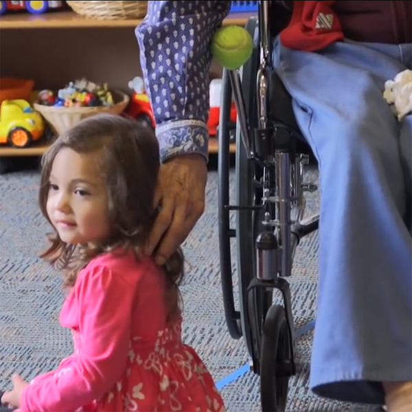 A Day Care Integrated in a Retirement Home Proves Beneficial to Kids and the Elderly