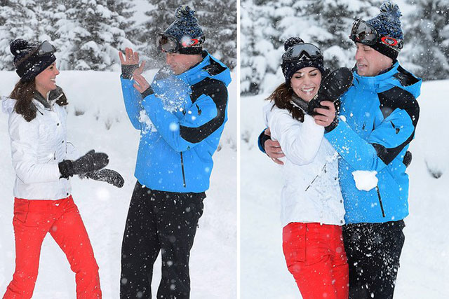 Royal family first ski and snow vacation