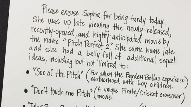 Dad's Excuse Letters for His Kids' Tardiness Will Definitely Make You Laugh