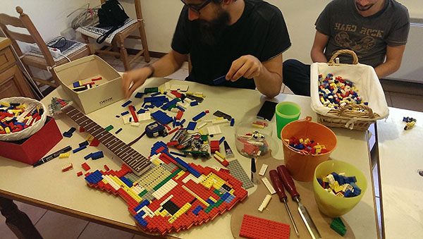 Lego Guitar making