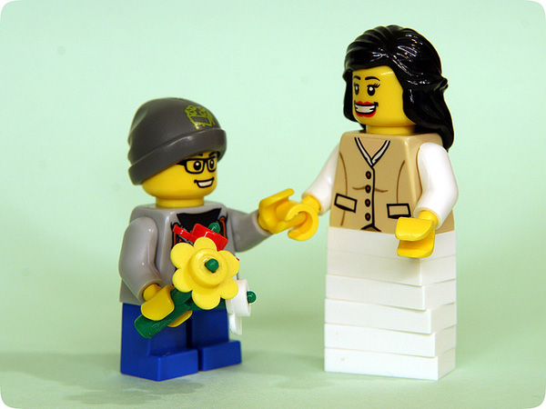 Lego mom and child