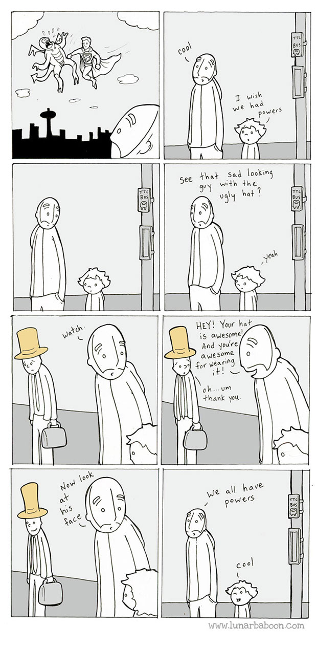 Lunarbaboon webcomic-we're all superheroes