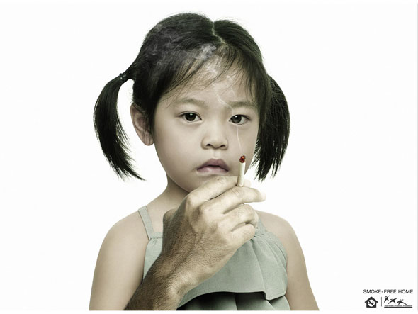 Secondhand smoke ad from the Thai Health Promotion Foundation