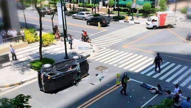 Woman hit by a car