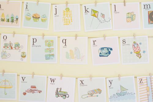 Print-out alphabet